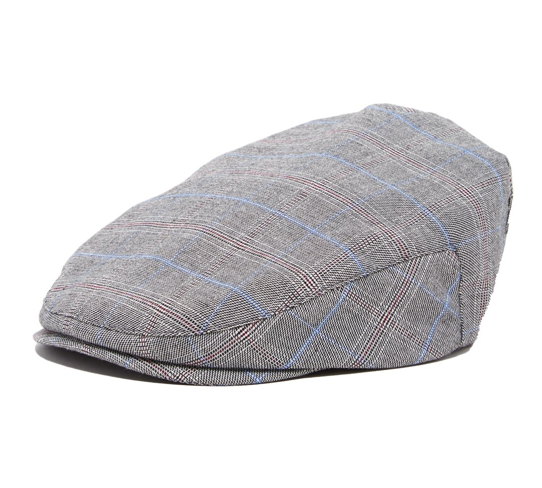 Born to Love - Boy's Tweed Page Boy Newsboy Baby Kids Driver Cap Hat (XXS (6-12 Months 46CM) Grey Blue)