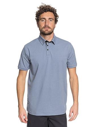 Quiksilver - Camisa Polo Técnica - Hombre - L - Azul: Amazon.es ...
