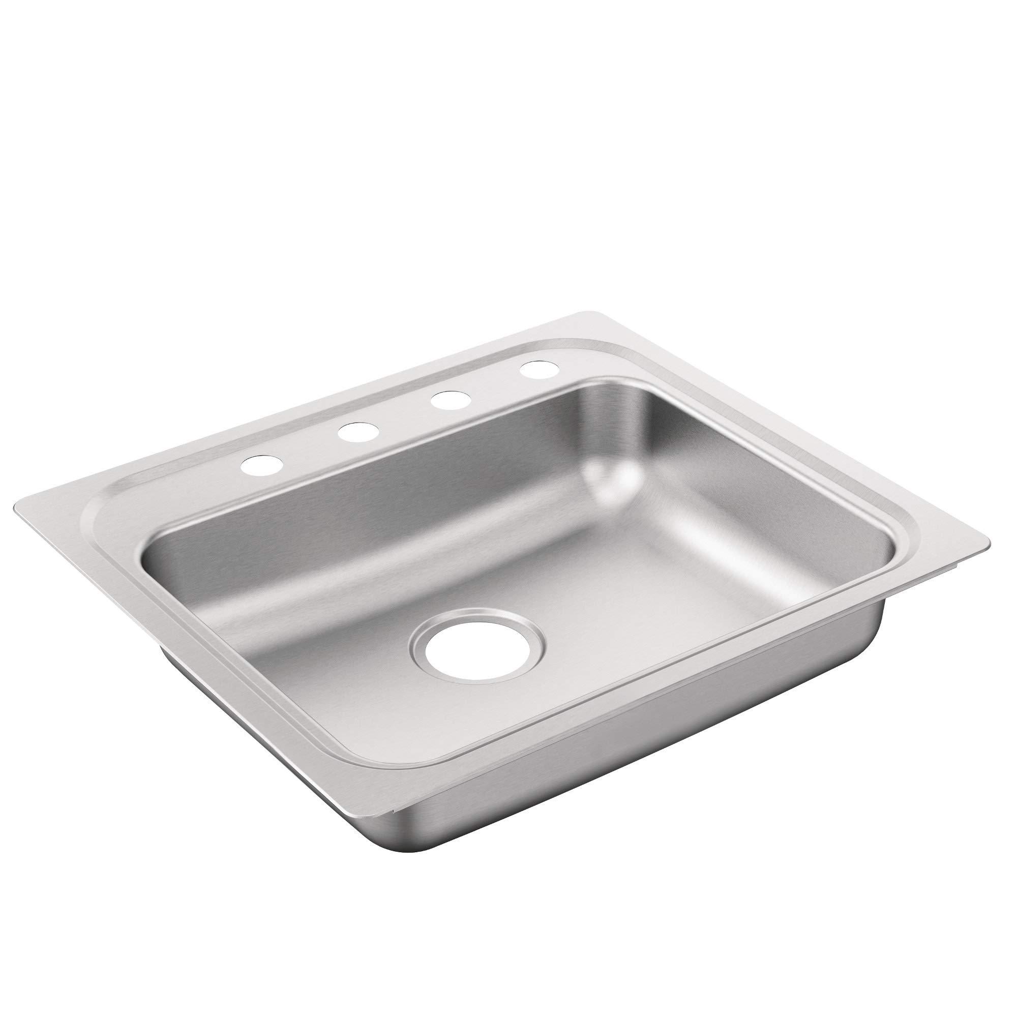 Moen G221204B 2200 Series Sink, Brushed/Satin Stainless