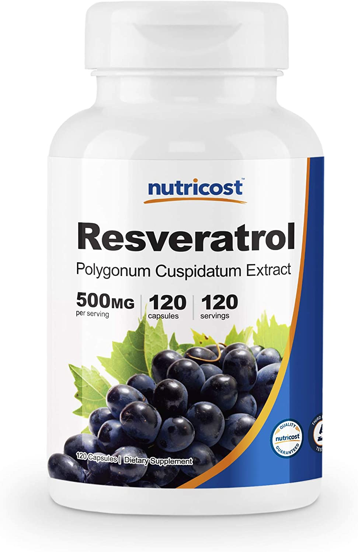 Amazon Com Nutricost Resveratrol 500mg 120 Capsules 50 Trans