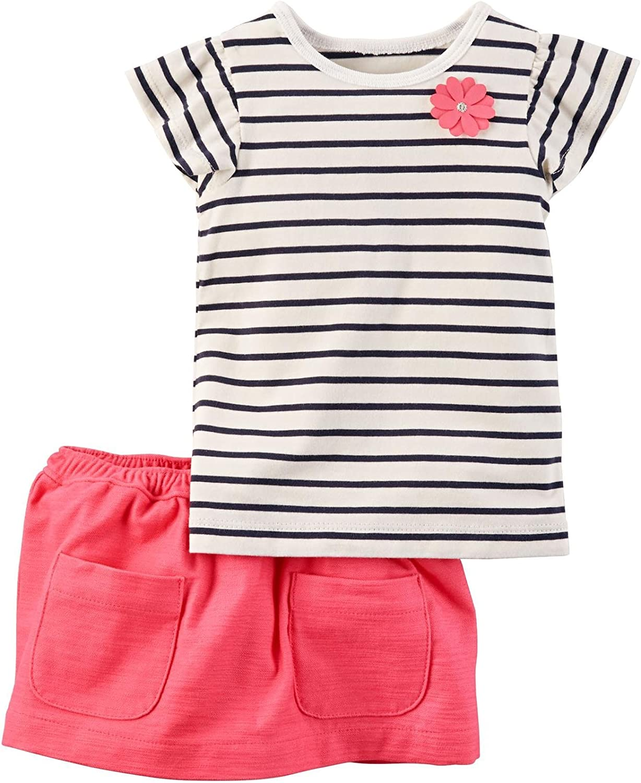 Carters Baby Girls 2 Pc Playwear Sets 239g353