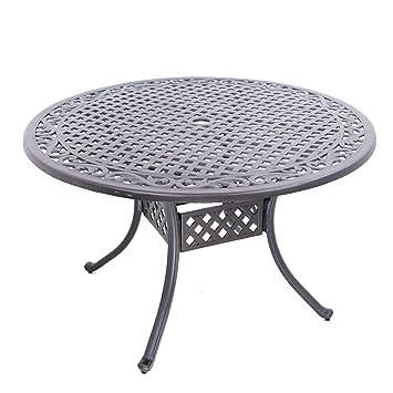 Table de jardin en fonte d\'aluminium. rund, Ø 120 cm Antik ...