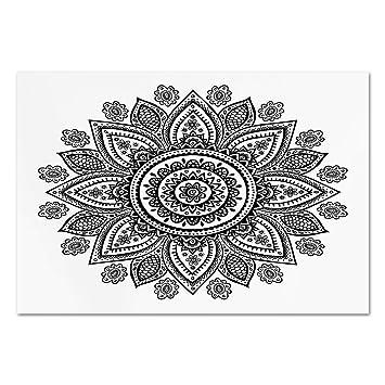 Amazon Com Large Wall Mural Sticker Henna Sunflower Pattern In