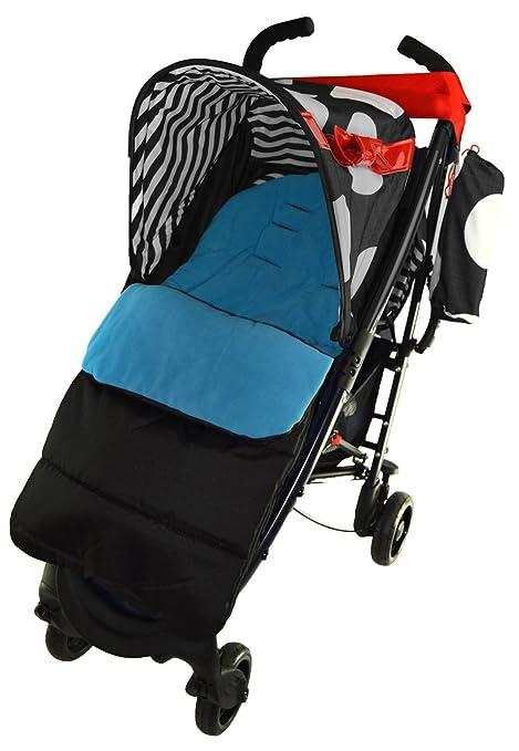 Saco/Cosy Toes Compatible con Maclaren Spitfire carrito de bebé, color azul
