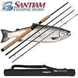 Santiam Fishing Rods Travel Rod 4 Piece 8'6'' 15-30lb MF Graphite Casting Rod
