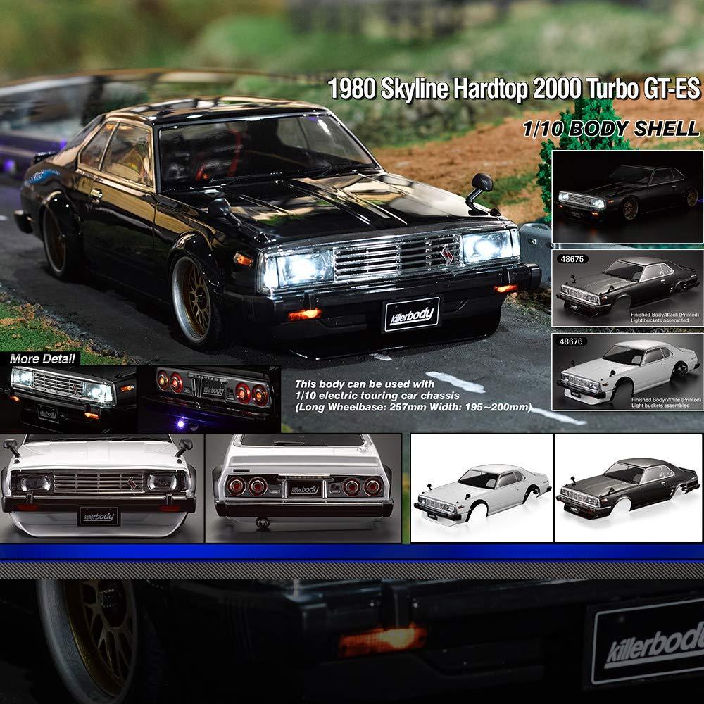 Goolsky Killerbody 48675 1980 Skyline Hardtop 2000 Turbo GT-ES Cuerpo Acabado Shell para 1/10 Touring eléctrico Coche de Carreras RC: Amazon.es: Juguetes y ...