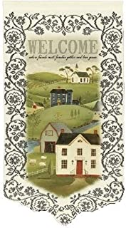 product image for Heritage Lace Country Home Welcome 12-Inch by 22-Inch Wall Hanging, Ecru