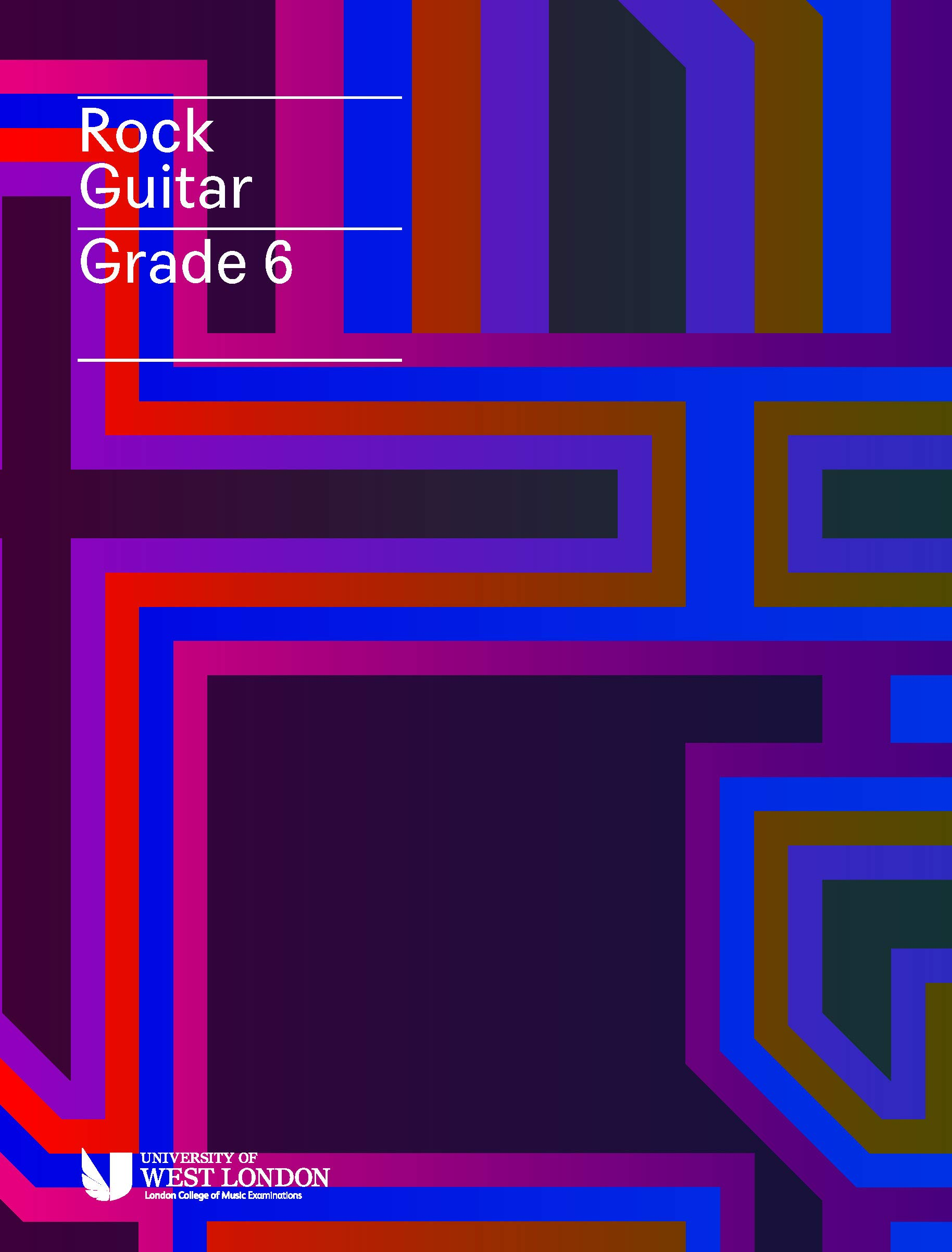 Electric Guitar Grade 6 London College of Music Exam Book from 2019 LCM Exams