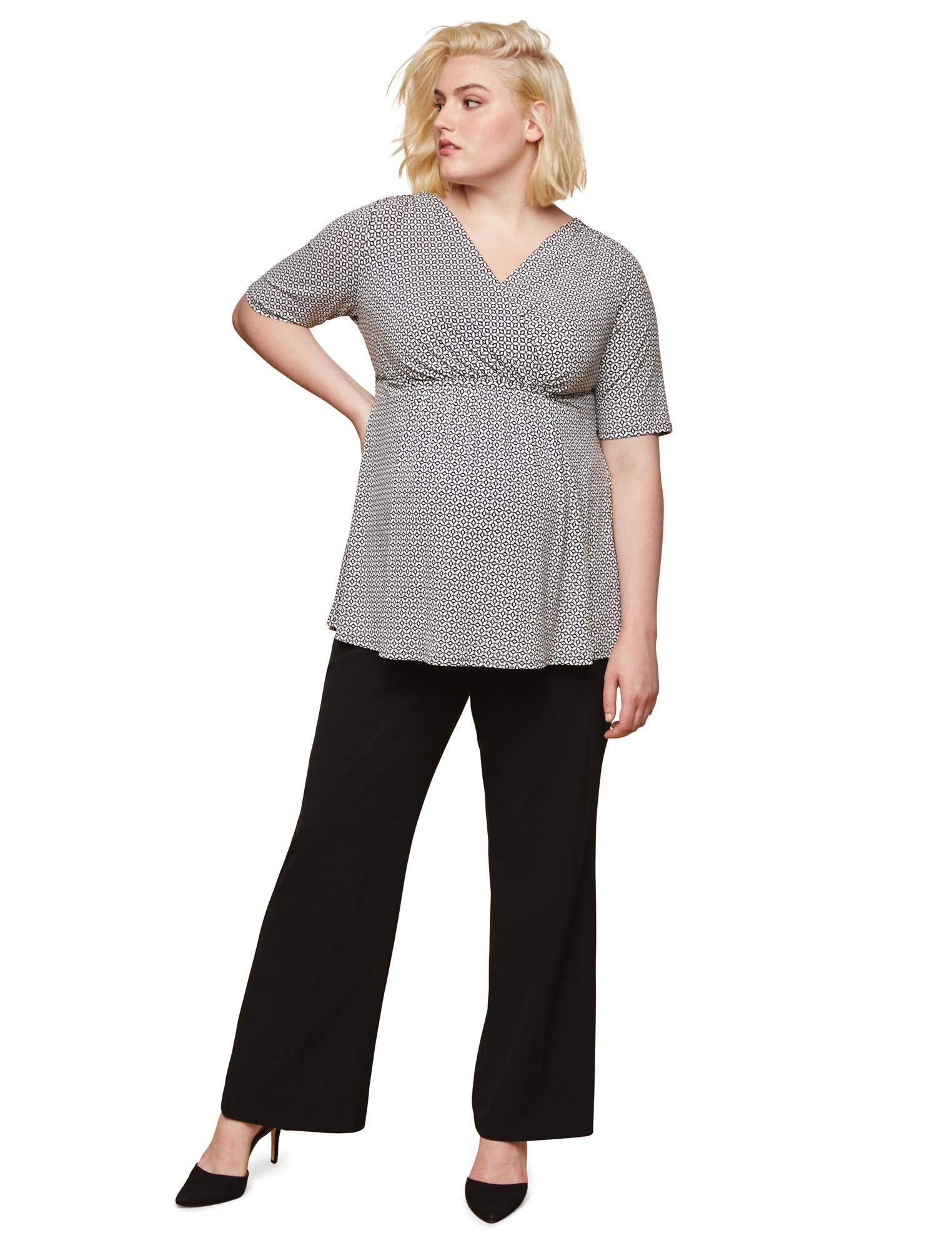 Motherhood Maternity Women's Maternity Plus-Size Bi-Stretch Secret Fit Belly Boot Cut Leg Pant, Black, 3X