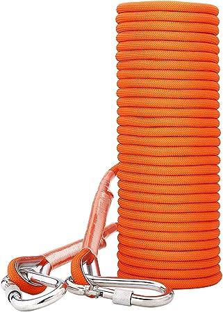 ENJOHOS Cuerda de escalada de seguridad con mosquetón de ...