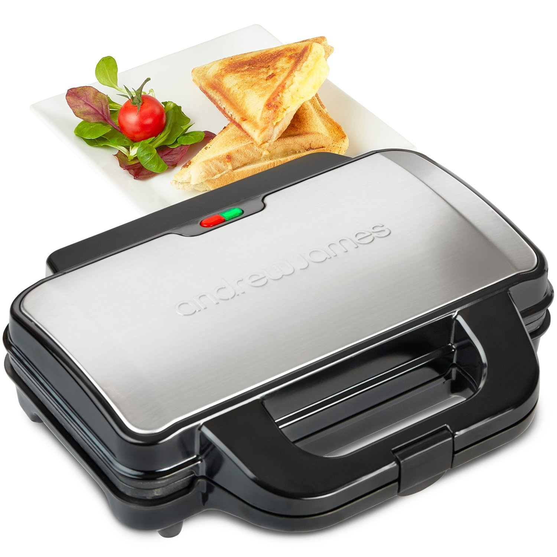 Andrew James Tooaster de Sandwich 900W - Capacité pour Deux Sandwiches 5060415767030