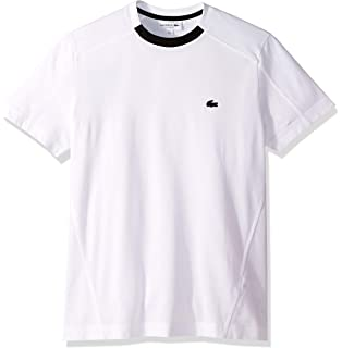 Lacoste Mens S//S Slubbed Pique Regular FIT Printed Polo Shirt 4XL red//Orpin//Pinot