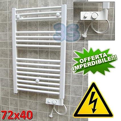 Cortina - Toallero eléctrico vertical con termostato - Color ...