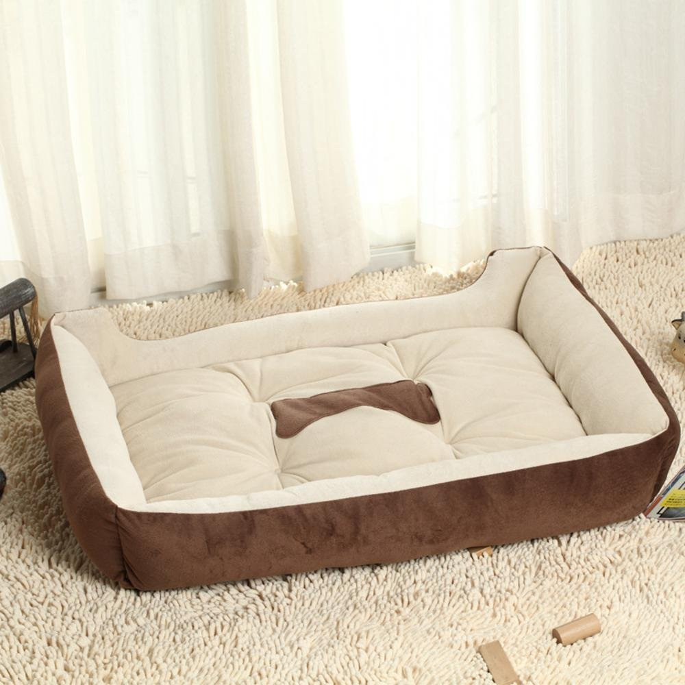 A Xs-(503815) cm A Xs-(503815) cm YunYilian Pet Bolster Dog Bed Comfort Cloth Cat Litter Dog mat pet Supplies Autumn and Winter Warm pet nest (color   A, Size   Xs-(50  38  15) cm)