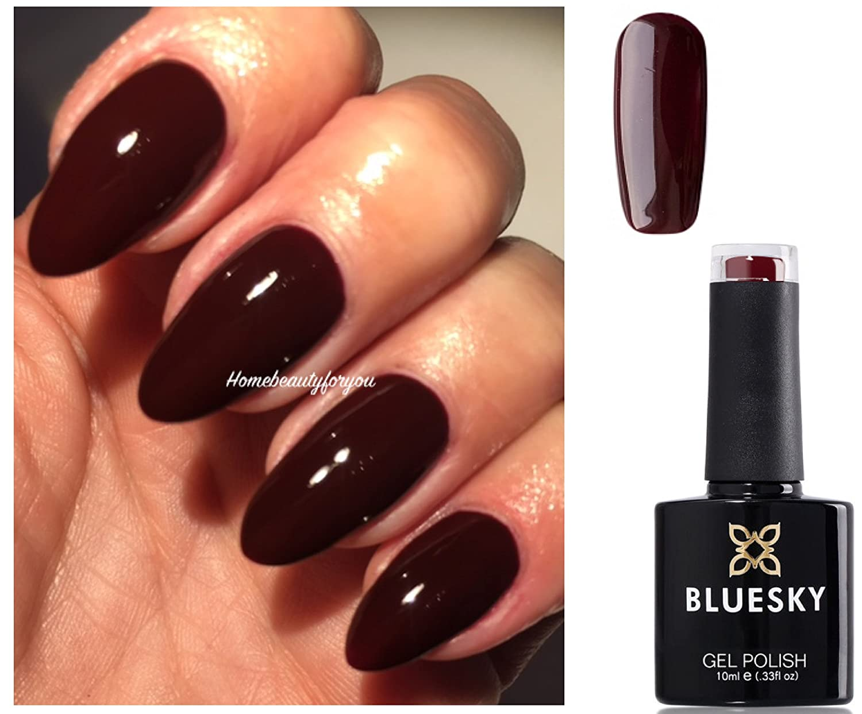 Bluesky A39 Ox Blood Red Burgundy Maroon Nail Gel Polish UV LED Soak ...