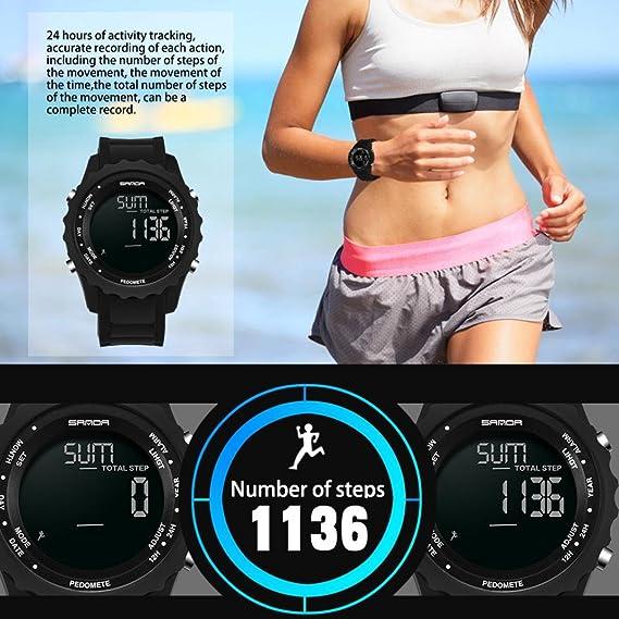 Amh de estudiantes unisex multifunción estilo completo saludable Lifestyle Reloj Deportivo Luz Electrónica Agua Densidad Outdoor Sport Creative electrónica ...