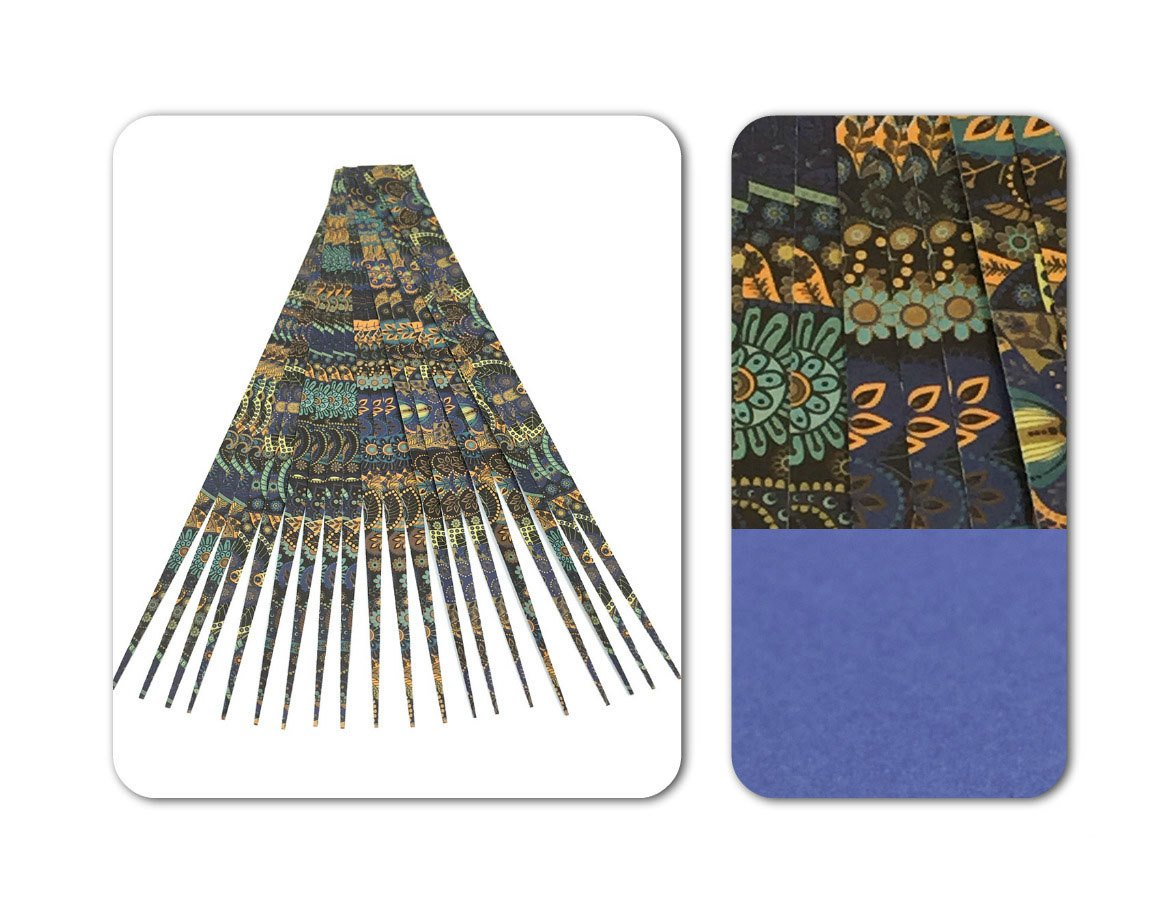 """Paper Bead Beading Strips for Paper Beads Double Sided 1/2"""" Precut Paper Strips Make Beautiful Beads"""