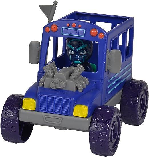 Simba-PJ Masks Ninja avec Bus-Véhicule avec personnage méchant