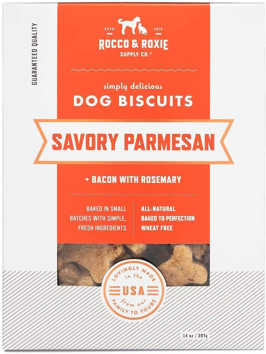 Rocco Roxie Dog Treats Biscuits- Dog Training Treats Made in USA Only Puppy Treats – for Small and Large Dogs