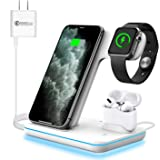 WAITIEE Wireless Charger,3 in 1 Qi-Certified 15W Fast Charging Station for Apple iWatch Series 5/4/3/2/1,AirPods…