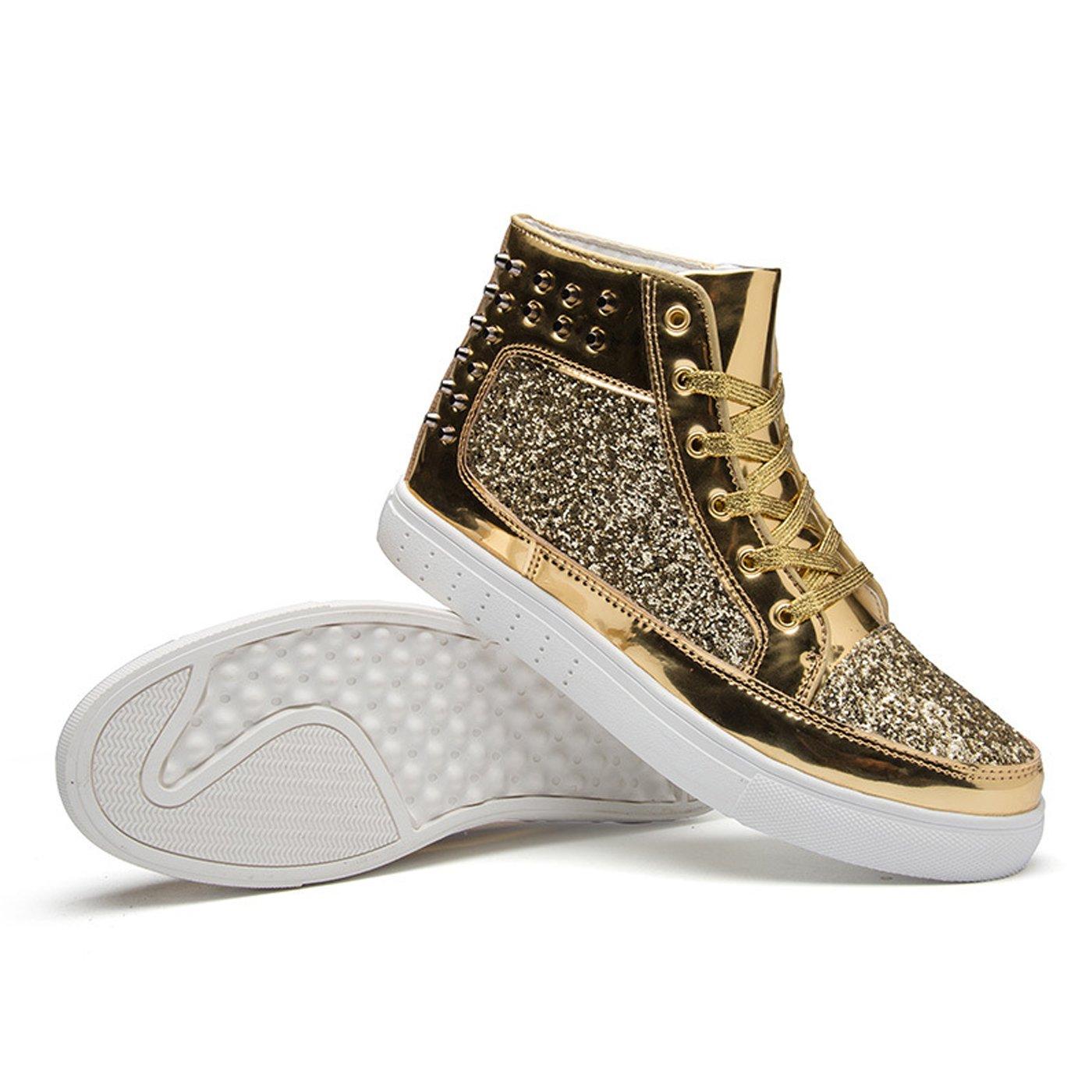d262dbbcaf6 CHNHIRA Homme Chaussures Montantes Chaussure de Loisirs Couple Bottes Hip-hop  Femme Baskets Mode (EU44 Jaune)  Amazon.fr  Chaussures et Sacs