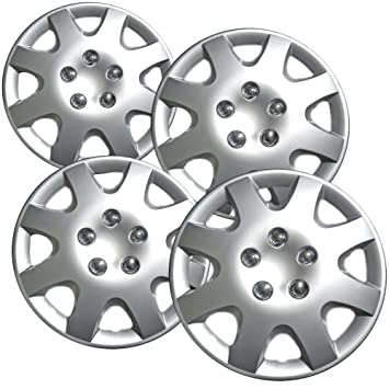 OxGord Hub-caps for 05-06 Ford Focus (Pack of 4) Wheel Covers 15 inch Snap On Silver, Hubcaps - Amazon Canada