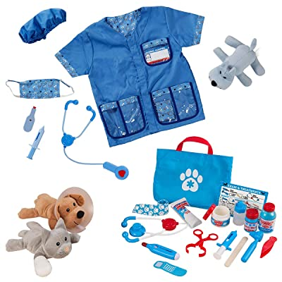 Melissa & Doug Veterinarian Dress Up & Accessories Playset: Clothing