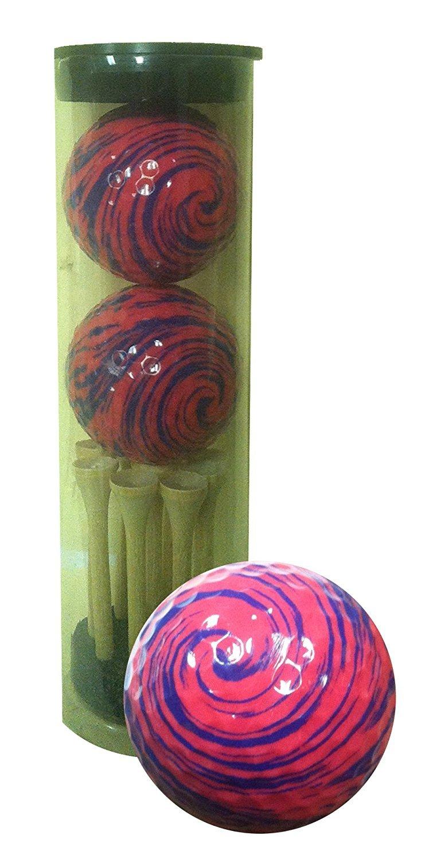 GBM Golf Miscellaneous Novelty 2 Ball Tube, Pink Swirl [並行輸入品] B071ZXJZ58