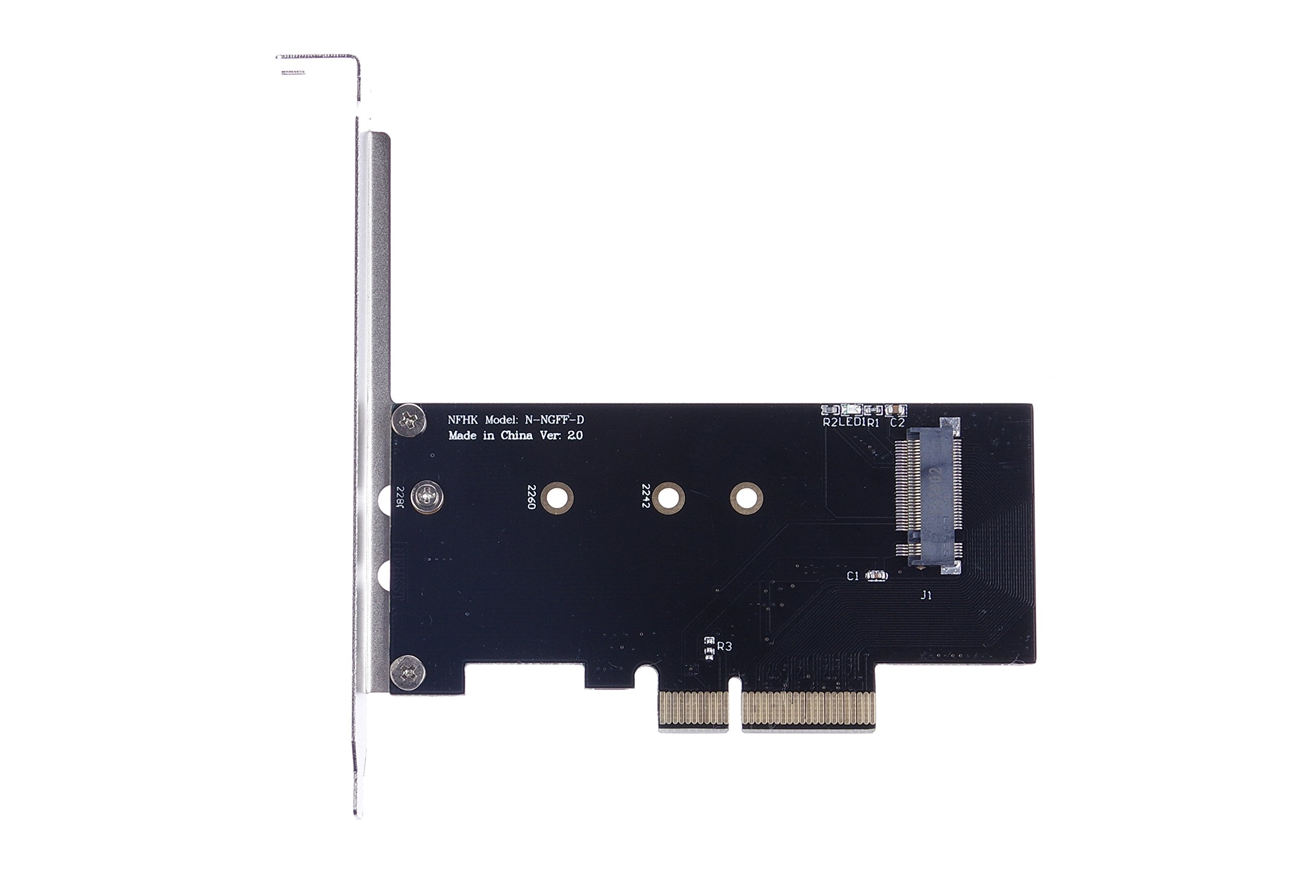 KNACRO M.2 NGFF PCIe x4 SSD to PCI-E x4 adapter card for the Samsung 950 PRO SM951 PM951