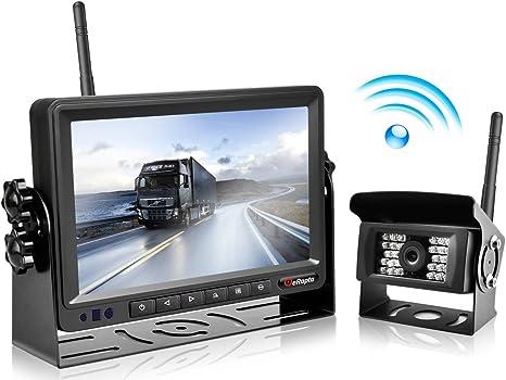 Erapta Wireless Backup Camera And Monitor Kit Reverse Rearview Cam Digital Signal 2018 Update For Truck Trailer Bus Rv Pickups Camper Motorhome Van