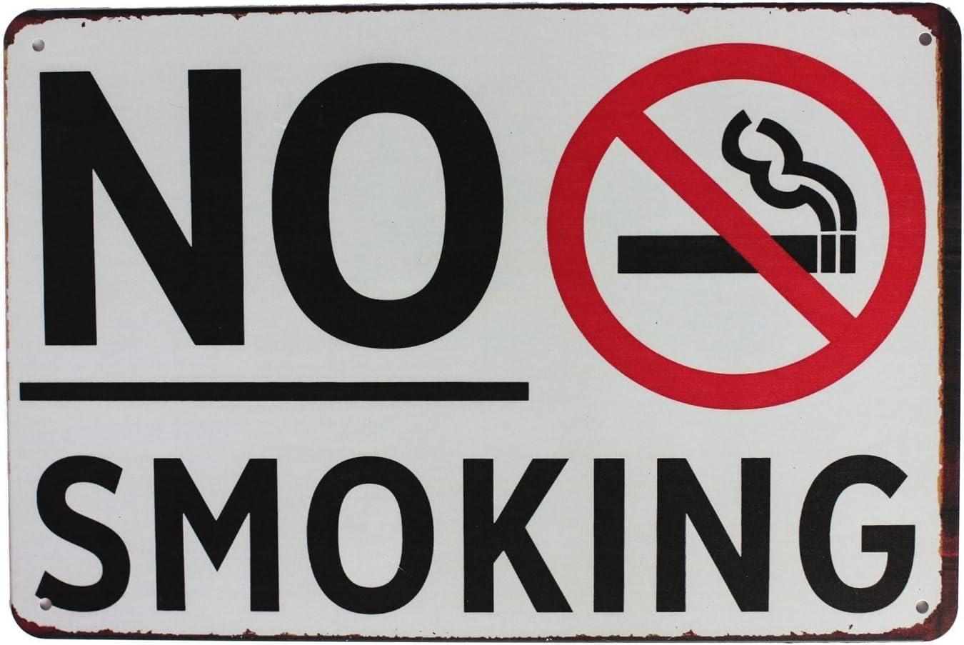 Metal Tin Sign no smoking  Bar Pub Home Vintage Retro Poster Cafe ART