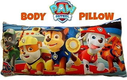 Amazon Com Nickeloden Paw Patrol Plush Body Pillow Rocky Rubble
