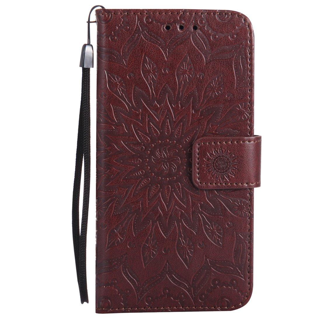 Flip Schutzh/ülle Zubeh/ör Lederh/ülle mit Silikon Back Cover PU Leder Handytasche 5,3 Zoll Nancen Compatible with Handyh/ülle LG K10