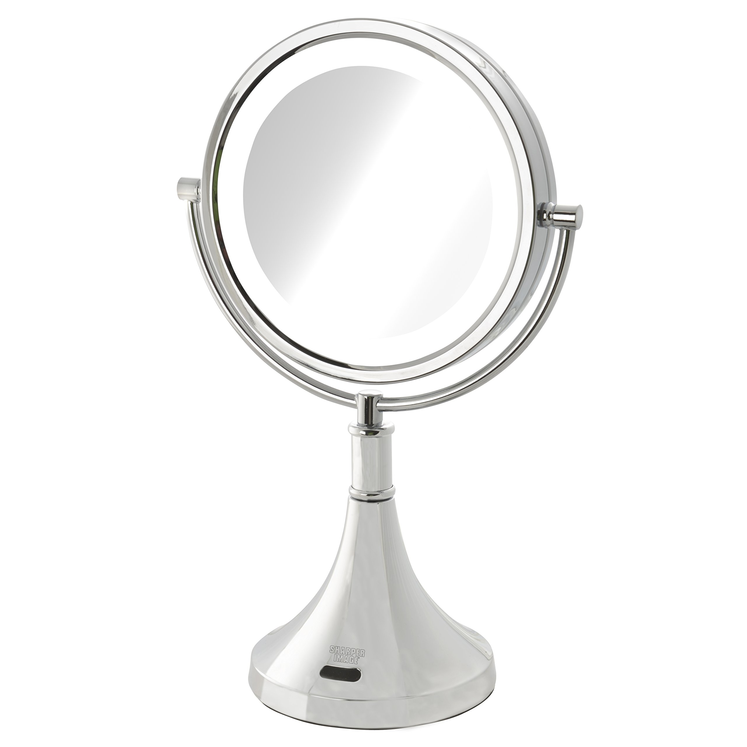 Sharper Image 8X-1X Led Lighted Sensor Mirror, Chrome, 2.95 Pound