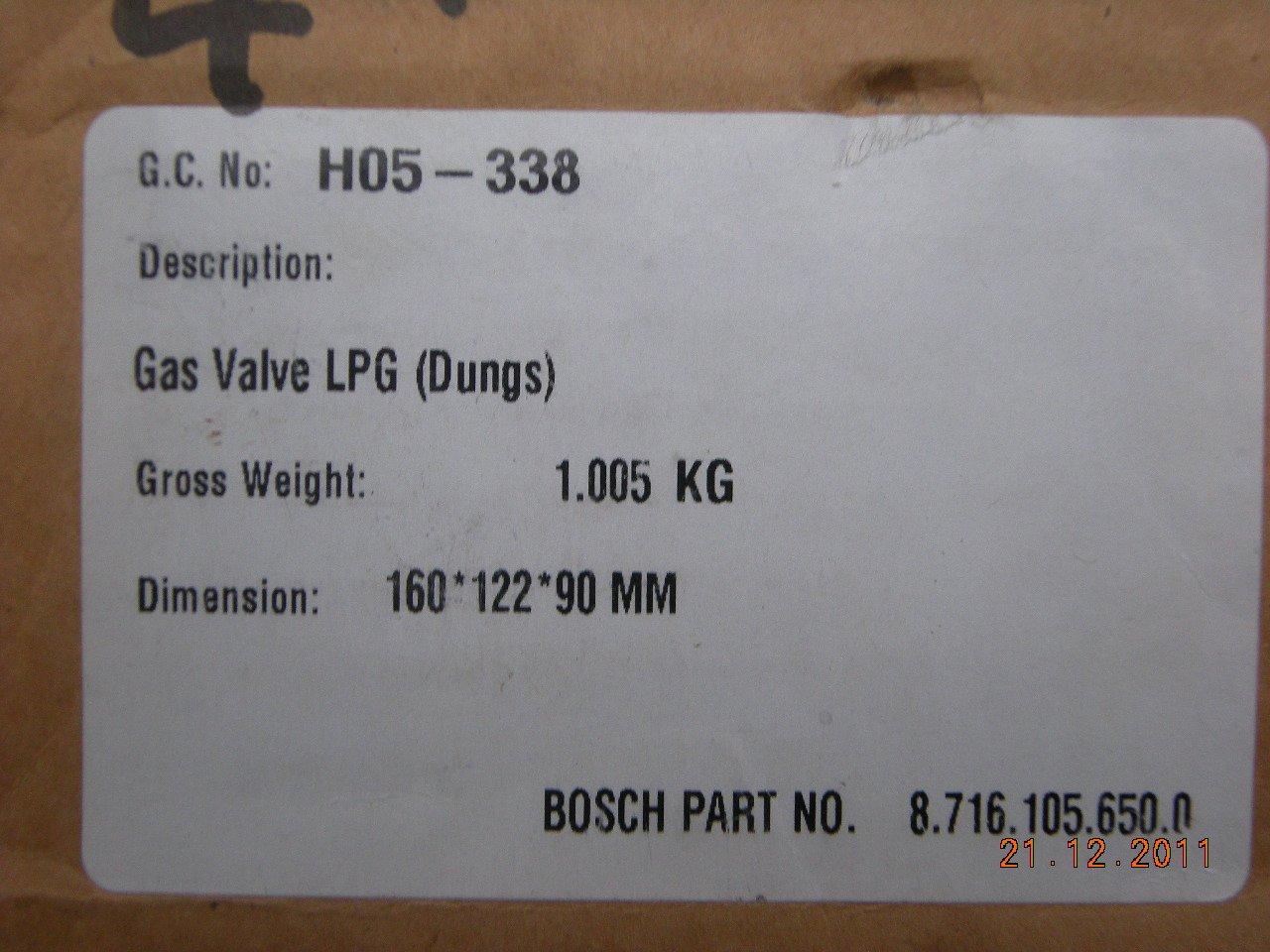 Worcester 24i 28i Junior LPG Gas Ventil 87161056500