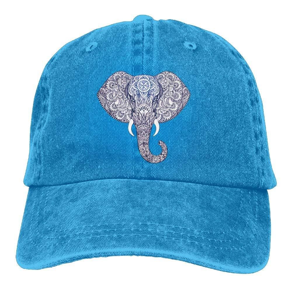 Nifdhkw Tatuaje de Elefante con Estampado de Gorro de algodón con ...