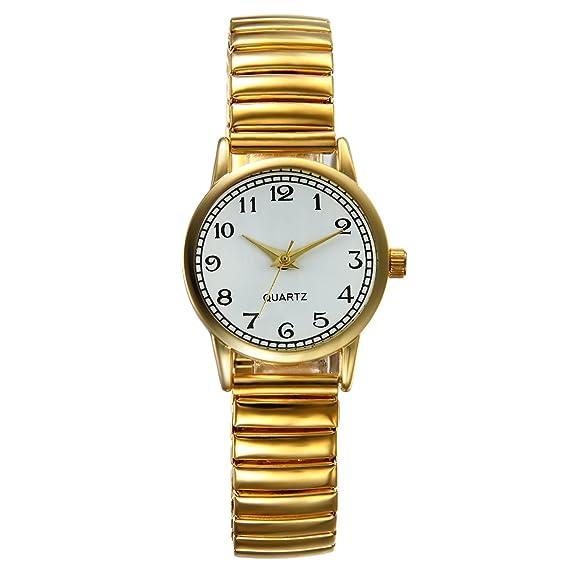Lancardo Reloj Analógico de Movimiento Cuarzo Original Dial con Grandes  Números Árabes Pulsera Electrónica de Moda c916f826da2d