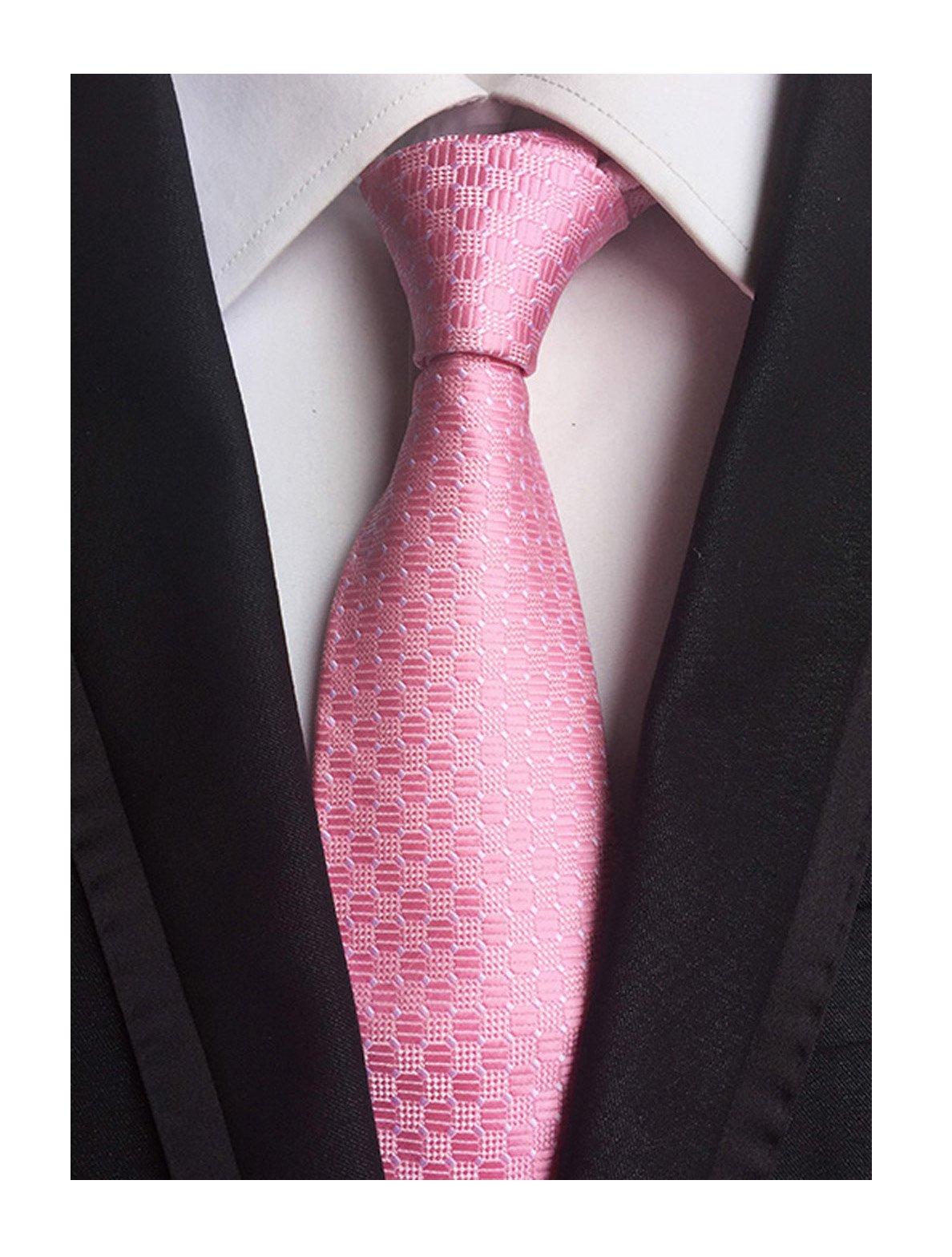Men Unisex Women Blush Pink Polka Dot Ties Unique Engagement Necktie Wedding Day