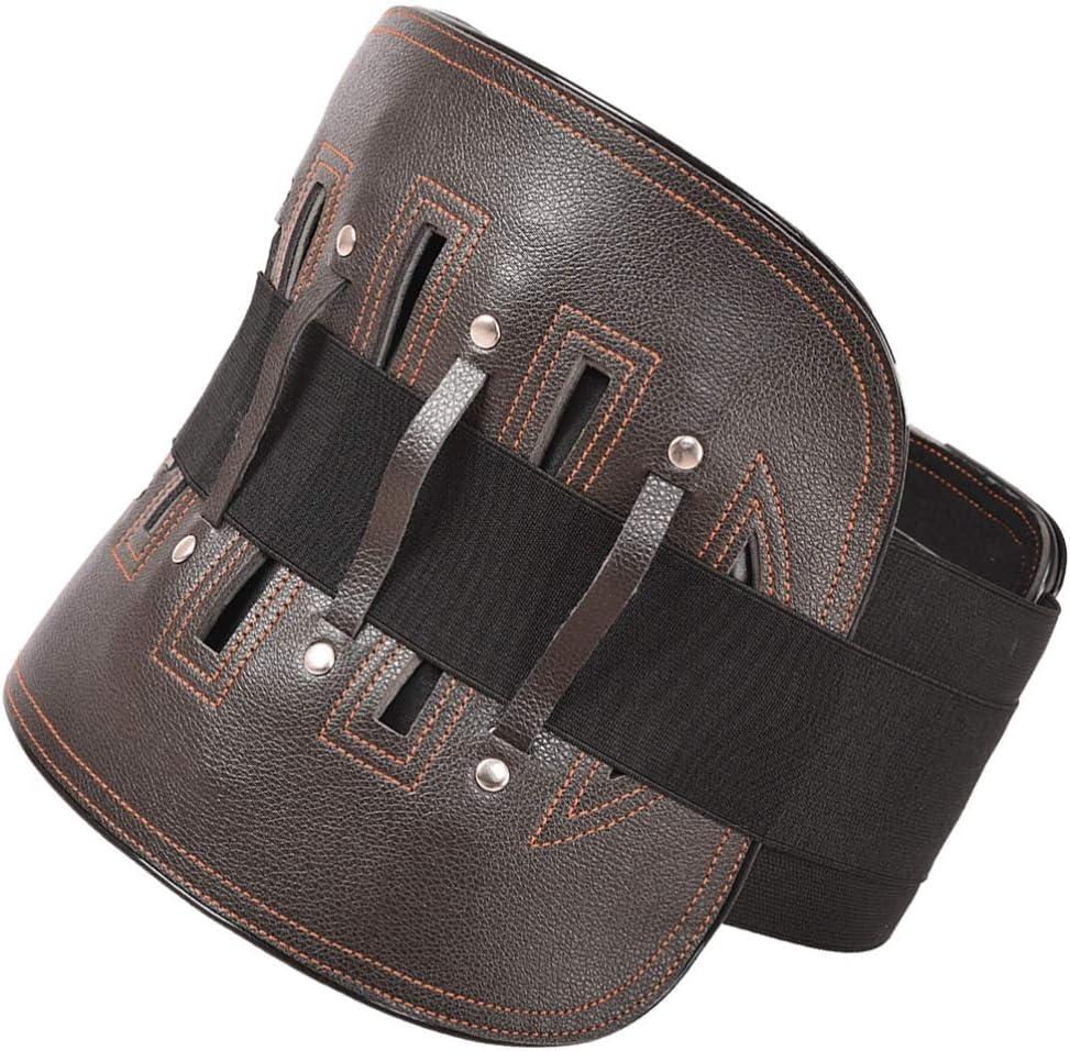 Supvox Cinturón de Soporte Lumbar Soporte para La Espalda Soporte para La Espalda Correas de Soporte Ajustables para El Dolor de Espalda Ciática Escoliosis Hernia de Disco Tamaño S