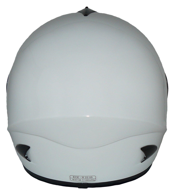 protectWEAR Casque Ouvert V510 Casque de Moto visi/ère Blanc Brillant L