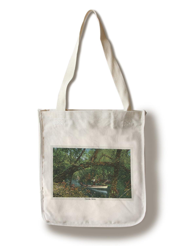 デイトナ、フロリダ州 – 風景Tomoka上のボートの川 Canvas Tote Bag LANT-29521-TT B01841L8R0  Canvas Tote Bag