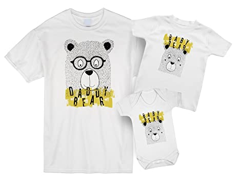 73bde626 Daddy Bear and Baby Bear Father and Baby Matching Outfits: Amazon.co ...
