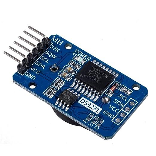 4 opinioni per WINGONEER piccolo DS3231 AT24C32 I2C modulo di precisione Tempo reale modulo