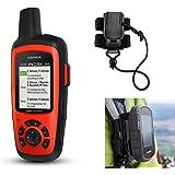 Garmin inReach Explorer+ Hiking GPS Bundle with Hiking Backpack Tether Mount | Belt Clip, Carabiner Clip | Waterproof, GEOS, Weather, Messaging