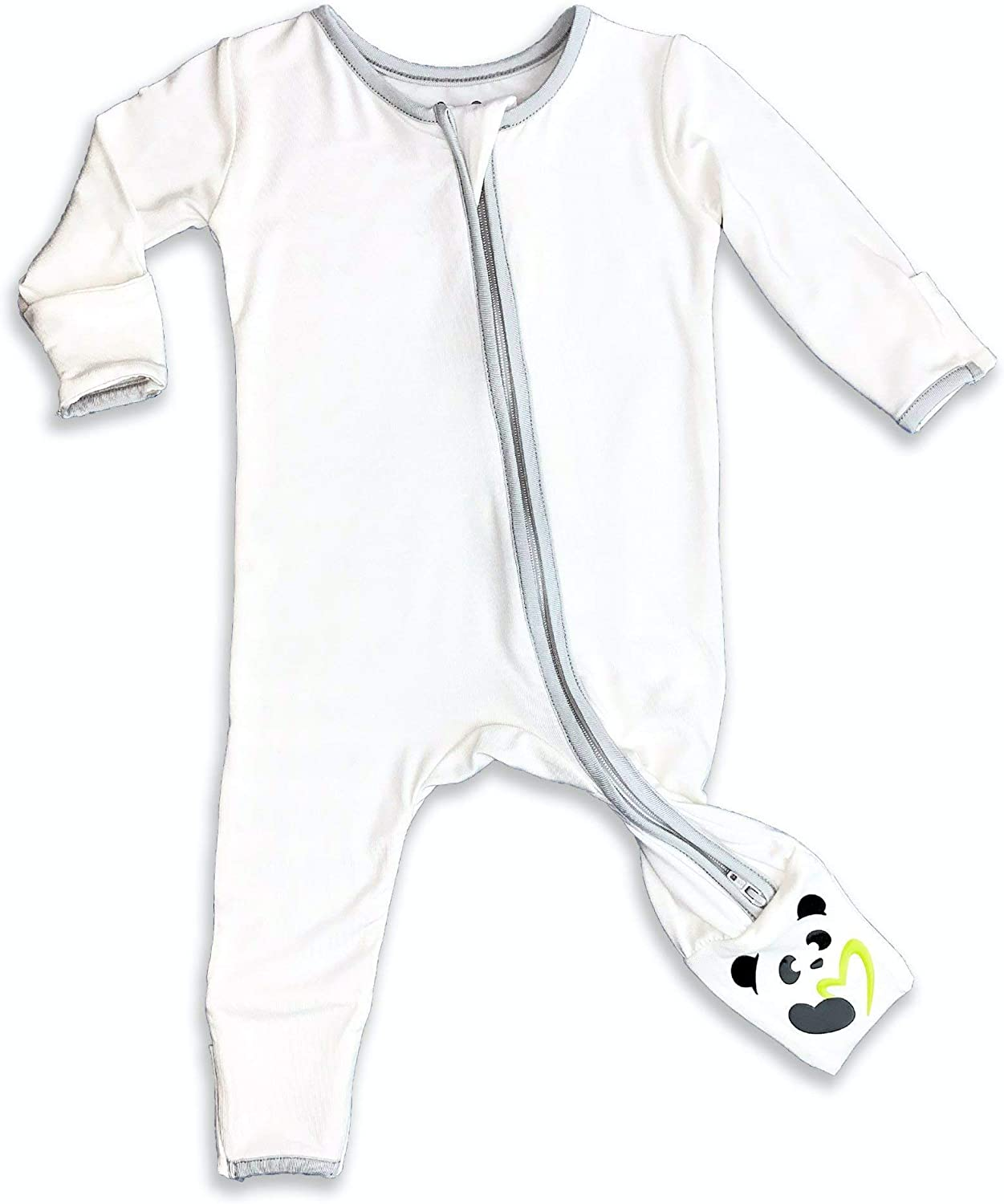Dragon Bamboo Convertible Footie Soft Baby Pajama 2-Way Zipper Non-Slip Footed Romper PJ