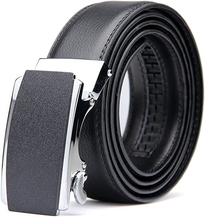 """New Men/'s belt Leather Dress Belt Automatic lock Click Comfort Buckle UP to 50/"""""""