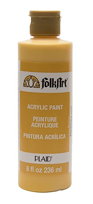 Folkart Acrylic Paint In Assorted Colors 8 Oz 827 School Bus Yellow