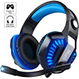 Gaming Headsets, Muzili Over Ear Headphones with Mic 7.1 Surround Sound Noise Cancelling Volume Control Earphones for PS4, PC, Xbox One, Switch Games