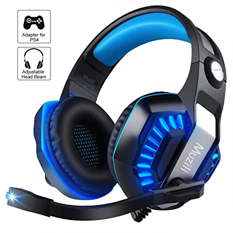 Auriculares para Juegos, Muzili GameK-2 LED Auriculares Gaming Cascos para Computadora con Micrófono