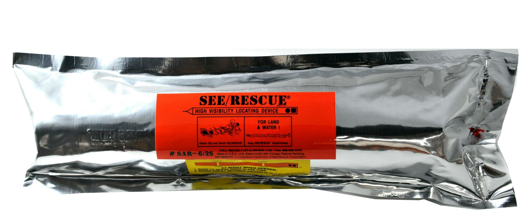 See/Rescue Streamer, Lighted Safety and Rescue Device for Any Terrain - Large